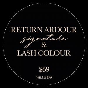 lashcolour and return ardour
